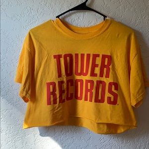 Never Worn - Tower Records Crop Top